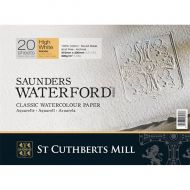 Блок для акварели Saunders Waterford Rough Block High White 31х23 см 300 гр 20 листов